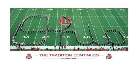 "Ohio State Buckeyes ""Script Ohio"" (Marching Band) Premium Poster Print - Rick Anderson"
