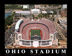 "Ohio Stadium ""From Above"" Buckeyes Football Gameday Poster Print - Aerial Views"