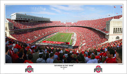 "Ohio Stadium ""Saturday in the 'Shoe"" Buckeyes Gameday Panoramic Poster Print - SPI 2007"