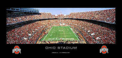 "Ohio State Football ""Home of the Buckeyes"" (Black Border) Panoramic Poster - RA 2006"