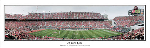 "Ohio Stadium ""20 Yard Line"" Ohio State Buckeyes Classic Panoramic Poster Print - Everlasting Images"