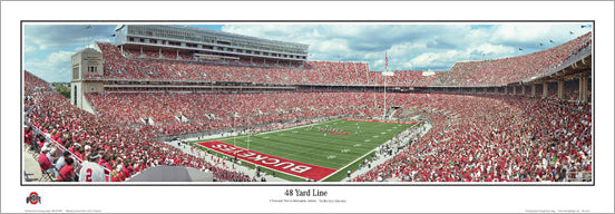 "Ohio Stadium Buckeyes Gameday ""48 Yard Line"" Panoramic Poster Print - Everlasting Images"