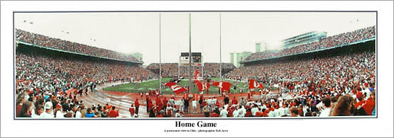 "Ohio State Buckeyes ""Home Game"" Ohio Stadium Gameday Panoramic Poster - Everlasting Images 1998"