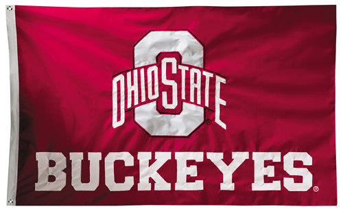 Ohio State Buckeyes Official NCAA Premium Nylon Applique 3'x5' Flag - BSI Products Inc.