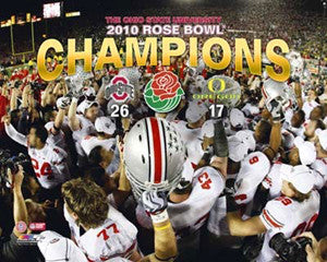 "Ohio State Buckeyes ""Helmets"" 2010 Rose Bowl Champs - Photofile 16x20"