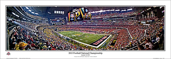 NCAA Football National Championship Game 2015 Panoramic Poster Print (Ohio State Buckeyes)