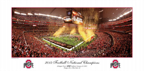 "Ohio State Buckeyes ""Against All Odds"" 2014 National Champions Premium Poster - Rick Anderson"