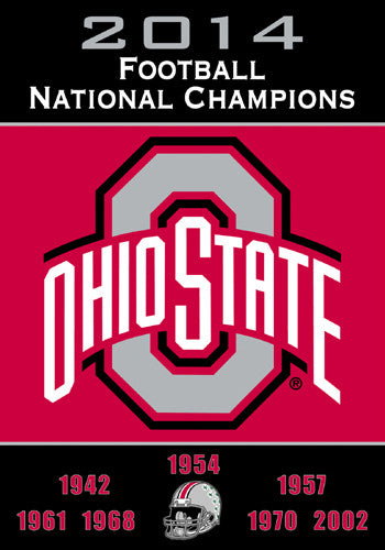 Ohio State Buckeyes Football 8-Time National Champions Commemorative Banner Flag - BSI Products