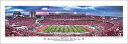 "Ohio State Buckeyes Ohio Stadium ""Saturday Night Special"" Panoramic Poster Print - Rick Anderson"