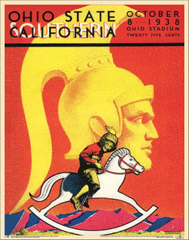 Ohio State Buckeyes vs. USC 1938 Vintage Program Cover Poster Print - Asgard