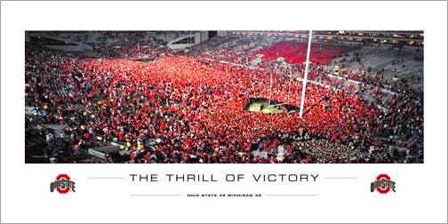 "Ohio State vs. Michigan 2006 ""The Thrill of Victory"" (Rush the Field) Poster Print"