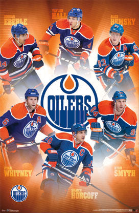 "Edmonton Oilers ""Superstars"" NHL Hockey Action Poster - Costacos 2013"