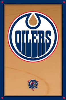 Edmonton Oilers Official NHL Team Logo Poster - Costacos