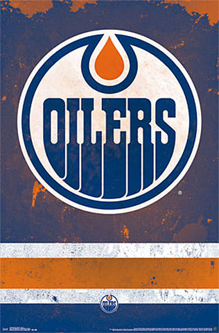 Edmonton Oilers Official NHL Hockey Team Logo Poster - Trends International