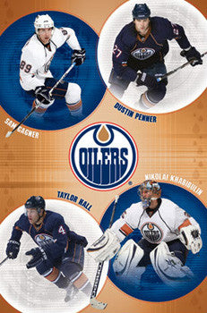 Edmonton Oilers Superstars 2010 Poster (Hall, Penner, Gagner, Khabibulin) - Costacos Sports