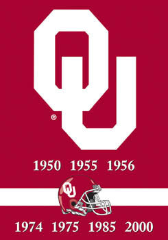 Oklahoma Sooners Football 7-Time National Champs Premium Banner - BSI Products
