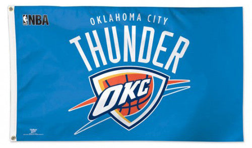 Oklahoma City Thunder Official NBA Basketball DELUXE-EDITION 3'x5' Team Flag - Wincraft