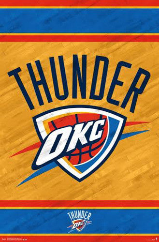 Oklahoma City Thunder NBA Basketball Official Team Logo Poster - Trends International