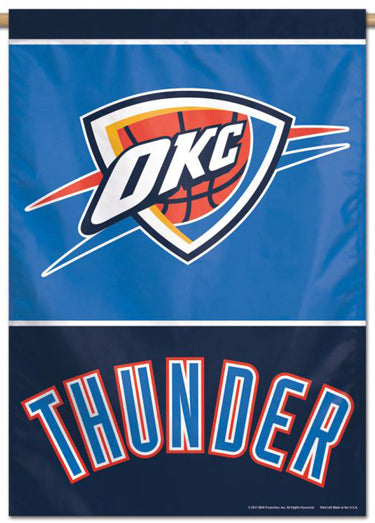 Oklahoma City Thunder Official NBA Basketball Premium 28x40 Team Logo Wall Banner - Wincraft Inc.