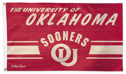University of Oklahoma Sooners Retro 1950s-Style College Vault Collection NCAA Deluxe-Edition 3'x5' Flag