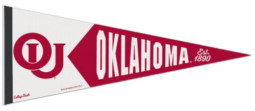 Oklahoma Sooners NCAA College Vault 1950s-Style Premium Felt Collector's Pennant - Wincraft Inc.