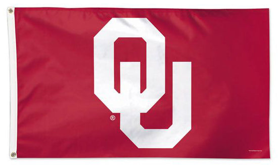 Oklahoma Sooners Official NCAA OU Team Logo Deluxe-Edition 3'x5' Flag - Wincraft Inc.