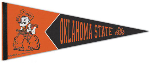"Oklahoma State Cowboys ""Pistol Pete"" NCAA College Vault 1940s-Style Premium Felt Collector's Pennant - Wincraft Inc."