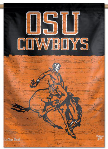 Oklahoma State Cowboys NCAA College Vault Series 1950s-Style Official NCAA Premium 28x40 Wall Banner - Wincraft Inc.