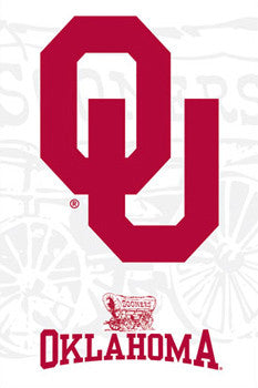 University of Oklahoma Sooners Official NCAA Team Logo Poster - Costacos