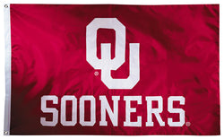 Oklahoma Sooners Official NCAA Premium Nylon Applique 3'x5' Flag - BSI Products Inc.