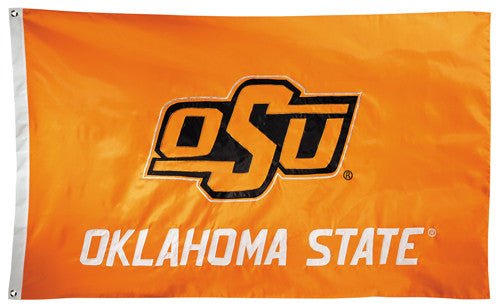 Oklahoma State Cowboys Official NCAA Premium Nylon Applique 3'x5' Flag - BSI Products Inc.