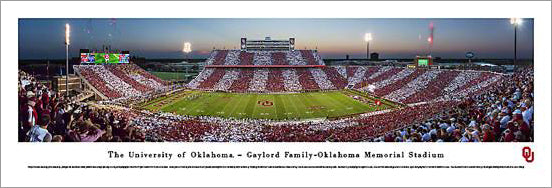 "Oklahoma Sooners Football ""Stripe the Stadium"" Panoramic Poster Print - Blakeway 2013"
