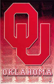 Oklahoma Sooners Official NCAA Team Logo Poster - Starline Inc.
