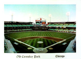 Old Comiskey Park (Interiior) Poster Print - Stadium Views 1990