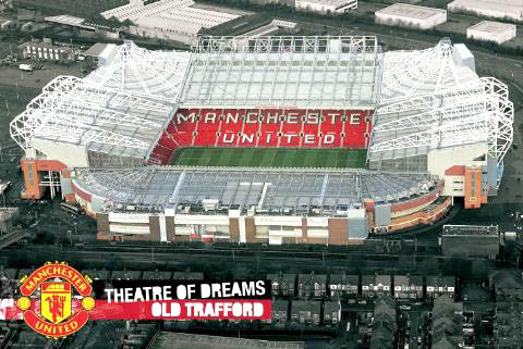 "Old Trafford Manchester United ""Bird's Eye View"" Poster - GB Posters"