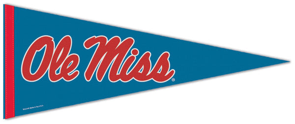 "University of Mississippi Rebels ""Ole Miss Script"" Official NCAA Premium Felt Collector's Pennant - Wincraft Inc."