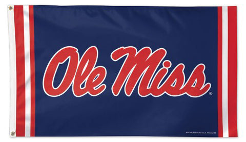 University of Mississippi OLE' MISS SCRIPT Official NCAA Deluxe-Edition 3'x5' Flag - Wincraft