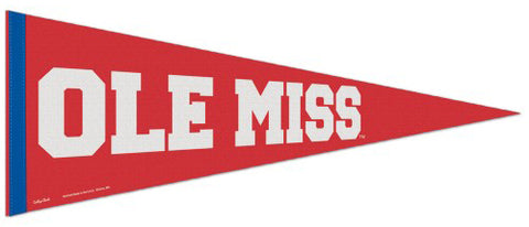 Ole Miss Rebels University of Mississippi NCAA College Vault 1950s-Style Premium Felt Collector's Pennant - Wincraft Inc.