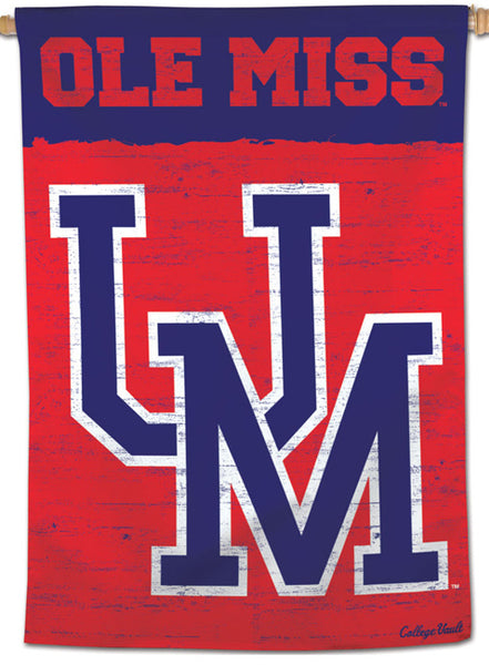 "University of Mississippi Rebels ""Ole Miss"" College Vault-Style NCAA Premium 28x40 Wall Banner - Wincraft Inc."