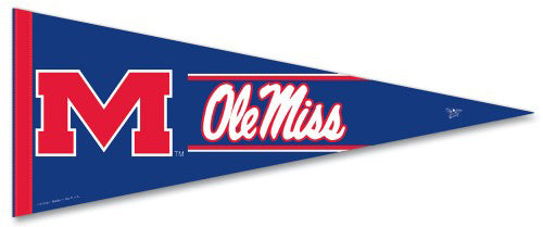 Ole Miss Rebels University of Mississippi Official NCAA Premium Felt Collector's Pennant - Wincraft Inc.