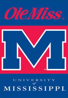 "Ole Miss University of Mississippi ""Big M"" Premium NCAA Team Wall Banner - BSI Products"