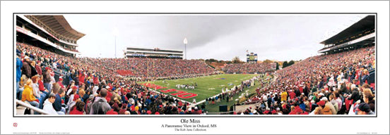 Ole Miss Rebels Mississippi Football Gameday Panoramic Poster Print - Everlasting Images 2005