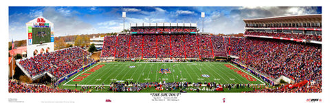 "Ole Miss ""The Shutout"" (Egg Bowl 2008) Panoramic Poster Print - USA Sports"
