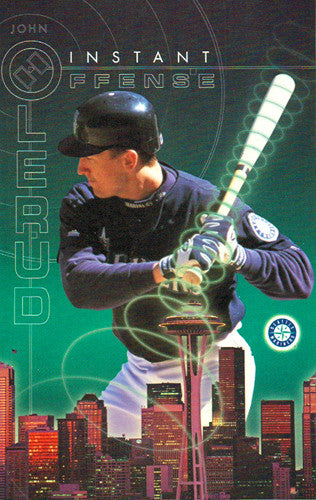 "John Olerud ""Instant Offense"" Seattle Mariners Poster - Costacos 2000"
