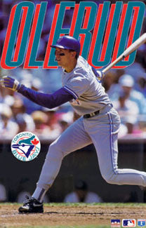 "John Olerud ""Action"" Toronto Blue Jays Poster - Starline 1994"