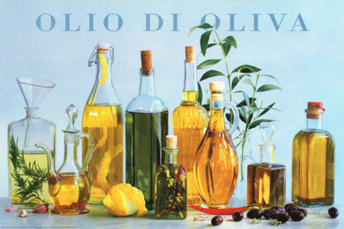 Olio di Oliva (Olive Oil) Kitchen Restaurant Food Poster - Studio B Posters