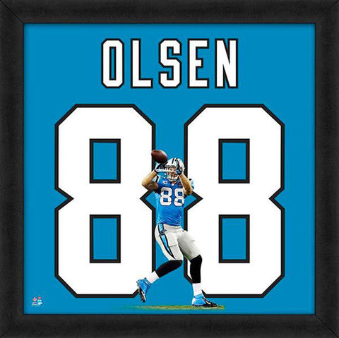 "Greg Olsen ""Number 88"" Carolina Panthers FRAMED 20x20 UNIFRAME PRINT - Photofile"