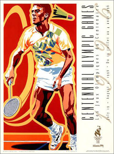 Atlanta 1996 Olympics Badminton Official Event Poster - Fine Art Ltd.