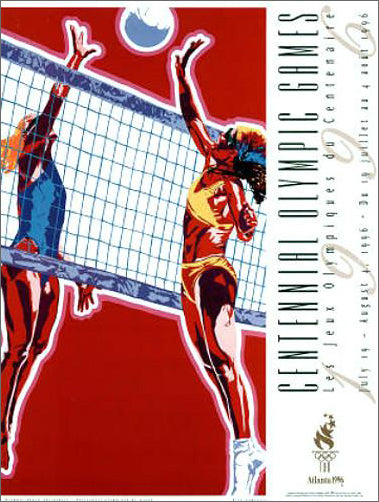 Atlanta 1996 Olympics Women's Beach Volleyball Official Event Poster - Fine Art Ltd