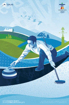 Vancouver 2010 Curling Official Poster - CAP